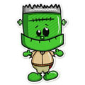 Cute Frankenstein 2 machine embroidery design