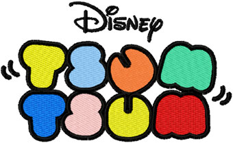 Tsum Tsum logo embroidery design