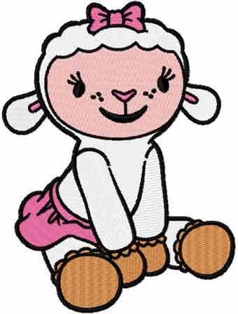 Lambie 5 embroidery design