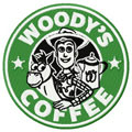 Woody's coffee badge machine eembroidery design