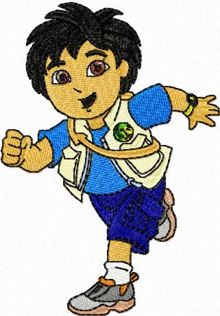 Go Diego Go embroidery design for Brother machine