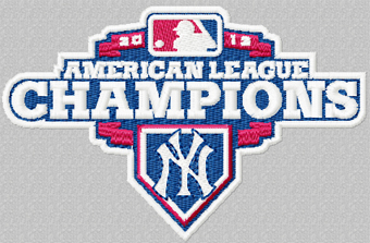 American League Champions New York Yankees logo machine embroidery design