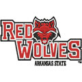 Arkansas Red Wolves logo machine embroidery logo design