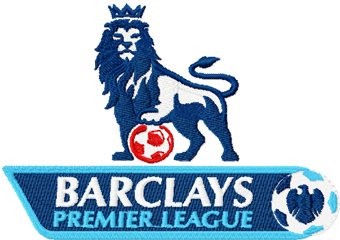 Barclays Premier League Logo machine embroidery design