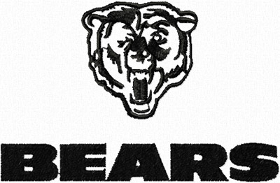 Chicago Bears Logo machine embroidery design