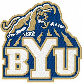 Brigham Young Cougars Alternate Logo machine embroidery design
