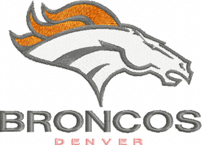 Bronco Denver Logo machine embroidery design