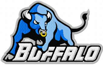 Buffalo Bulls logo machine embroidery design