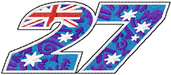 Casey Stoner 27 Logo Machine Embroidery Design