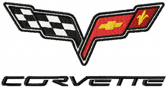 corvette machine embroidery designs
