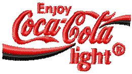 Coca Cola light Logo machine embroidery design