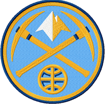 Denver Nuggets logo machine embroidery design