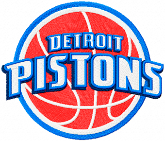 Detroit Pistons Primary Logo machine embroidery design