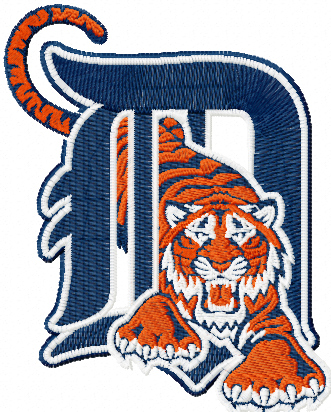 Detroit Tigers logo machine embroidery design