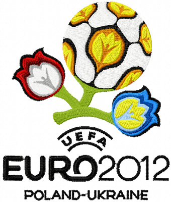 EURO 2012 logo machine embroidery design