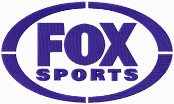 Fox sports logo machine embroidery design