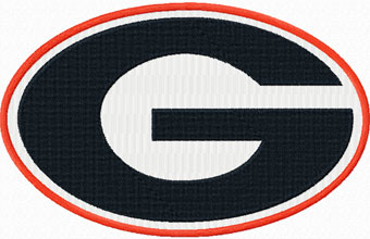 Georgia Bulldogs logo machine embroidery design