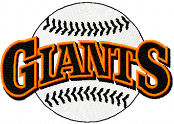 Giants classic logo machine embroidery design