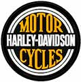 Harley Davidson patch logo machine embroidery design