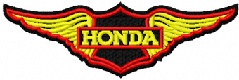 Honda wings logo machine embroidery design