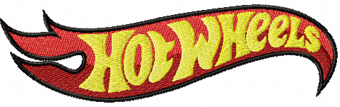 Hot Wheels logo machine embroidery design
