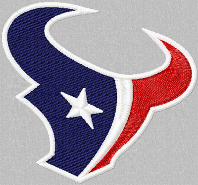 Houston Texans logo machine embroidery design