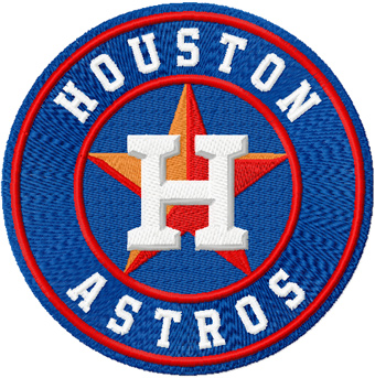 Houston Astros logo machine embroidery design