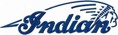 Indian Motorcycles  logo machine embroidery design