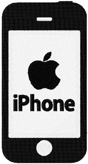 iPhone machine embroidery design