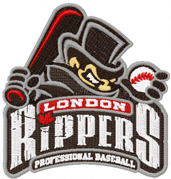 London Rippers Logo machine embroidery design