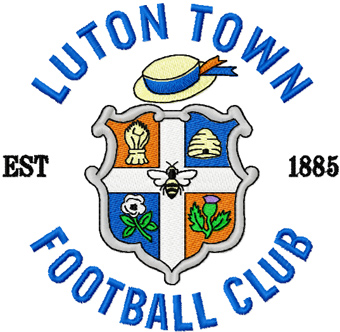 Luton Town F.C. badge machine embroidery design