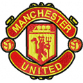 Manchester United Football Club logo machine embroidery design