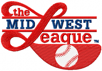 Minor League Baseball's Midwest League logo machine embroidery design