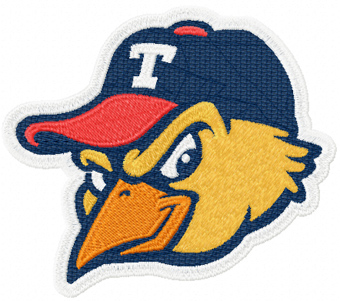 MudHens logo baseball team machine embroidery design