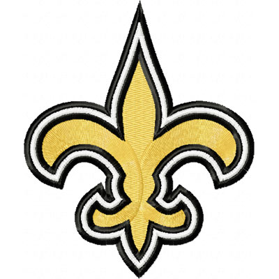 New Orleans Saints Logo Embroidery Design