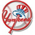 New York Yankees logo machine embroidery design