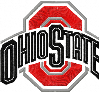 Ohio State Buckeyes Alternate Logo Embroidery Design