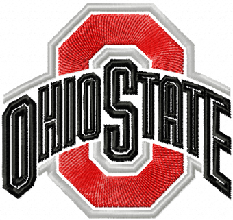 Ohio State Buckeyes Logo embroidery design