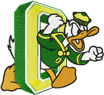 Oregon Ducks Logo 2 machine embroidery design