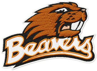 Oregon State Beavers Logo machine embroidery design