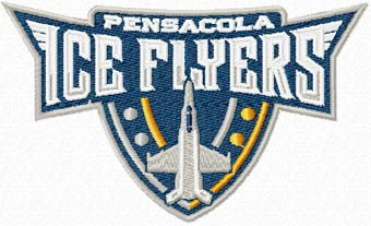 Pensacola Ice Flyers Logo machine embroidery design