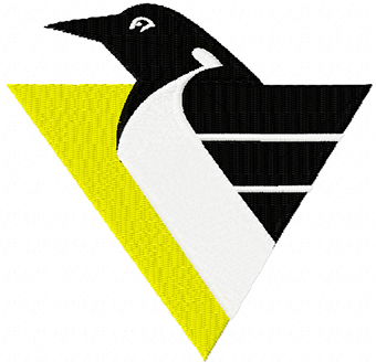 Pittsburgh Penguins hockey club logo machine embroidery design