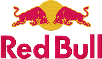 Red Bull logo machine embroidery design