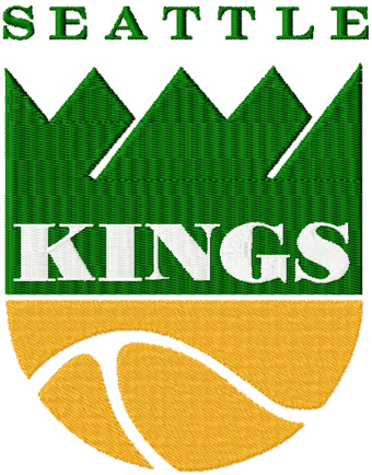 Seattle Kings logo machine embroidery design
