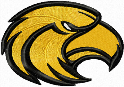 Southern Miss Golden Eagle machine embroidery design