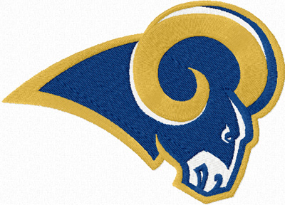 St. Louis Rams logo machine embroidery design
