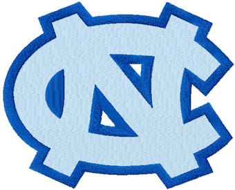 University of North Carolina at Chapel Hill logo machine embroidery design