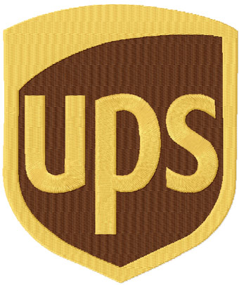 UPS logo classic machine embroidery design