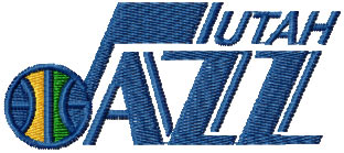 Utah Jazz Logo machine embroidery design