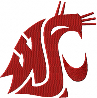 Washington State Cougars machine embroidery design